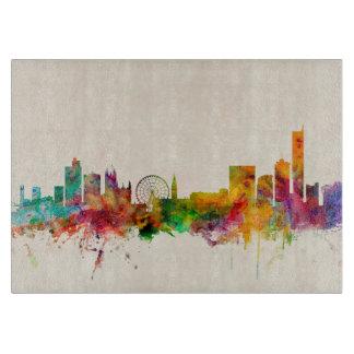 Manchester England Skyline Cityscape Cutting Board