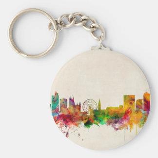 Manchester England Skyline Cityscape Key Chains