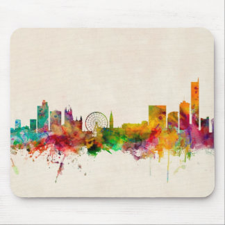 Manchester England Skyline Cityscape Mouse Mat