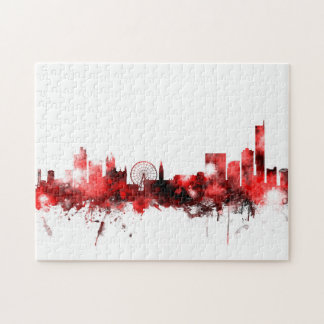 Manchester England Skyline Jigsaw Puzzle