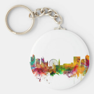 Manchester England Skyline Key Chains