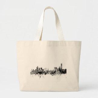 Manchester England Skyline Large Tote Bag
