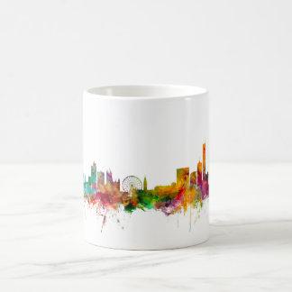 Manchester England Skyline Basic White Mug