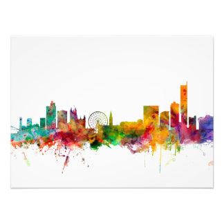 Manchester England Skyline Art Photo