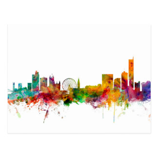 Manchester England Skyline Postcards