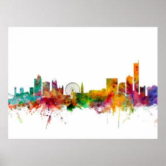 Manchester England Skyline Print