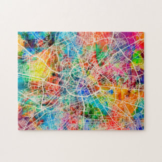 Manchester England Street City Map Jigsaw Puzzle