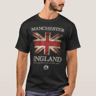Manchester England UK Flag T-Shirt