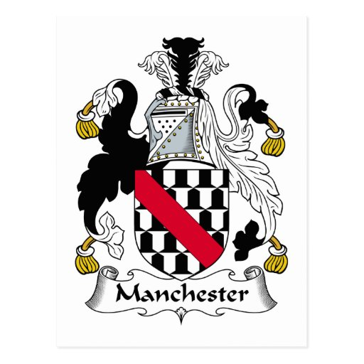 Manchester Family Crest Post Cards