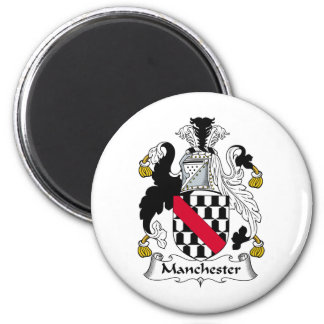 Manchester Family Crest Refrigerator Magnet