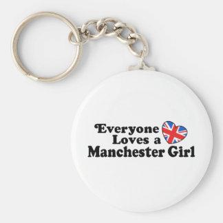 Manchester Girl Key Ring