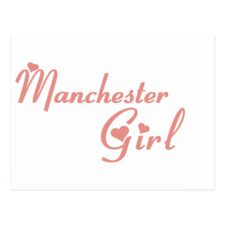 Manchester Girl tee shirts Postcard