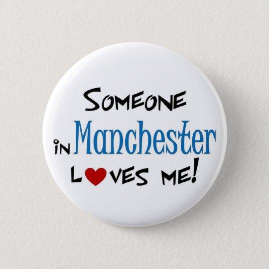 Manchester Love 6 Cm Round Badge