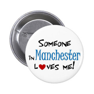 Manchester Love 6 Cm Round Badge