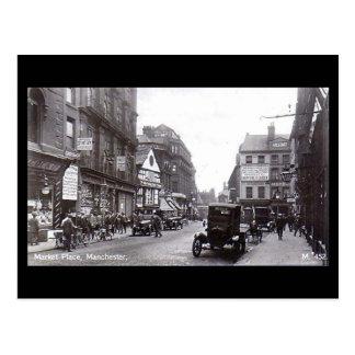 Manchester, Market Place Postcard