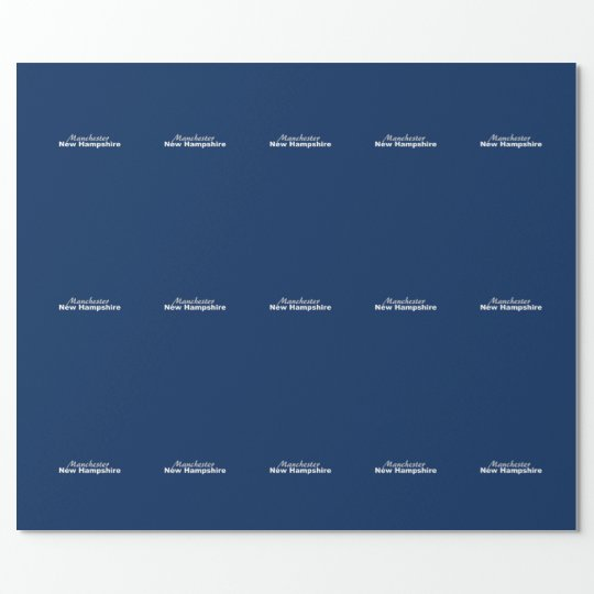 Manchester, New Hampshire Wrapping Paper