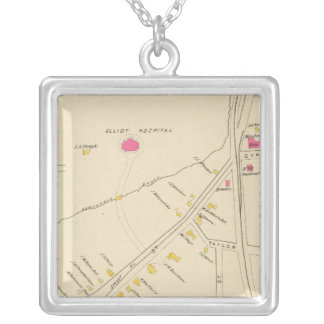 Manchester, NH, Ward 6 2 Silver Plated Necklace