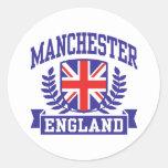 Manchester Round Stickers