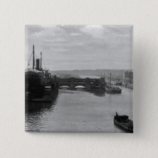 Manchester Ship Canal, c.1910 15 Cm Square Badge