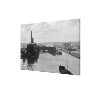 Manchester Ship Canal, c.1910 Canvas Print