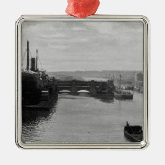 Manchester Ship Canal, c.1910 Christmas Ornament