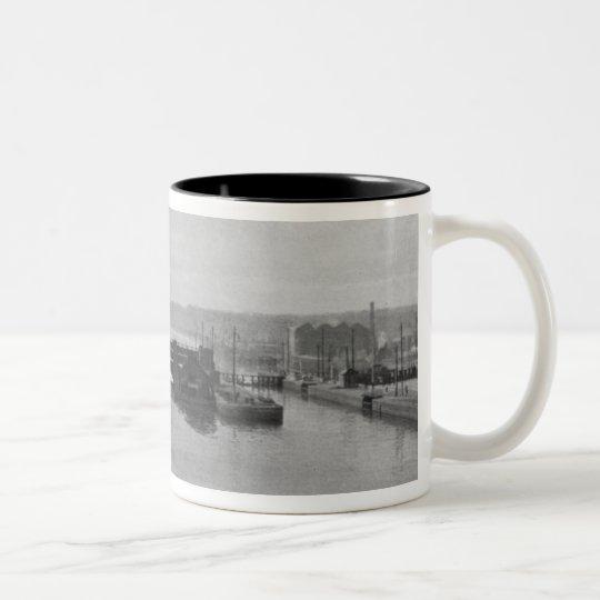 Manchester Ship Canal, c.1910 Two-Tone Coffee Mug