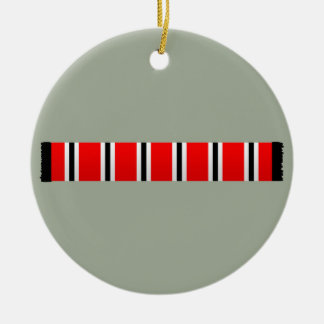 Manchester sporting red white and black bar scarf christmas ornament