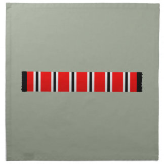 Manchester sporting red white and black bar scarf napkin