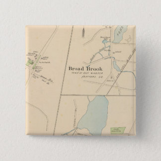 Manchester, Suffield, Broad Brook 15 Cm Square Badge
