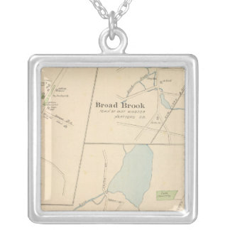 Manchester, Suffield, Broad Brook Silver Plated Necklace