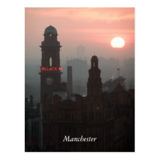 Manchester Sunset Postcard