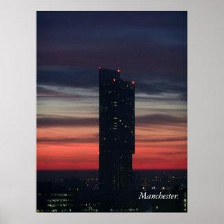 Manchester Sunset Poster