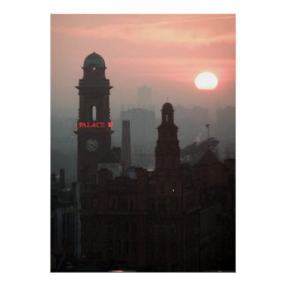 Manchester Sunset Poster