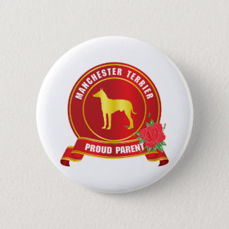 Manchester Terrier 6 Cm Round Badge