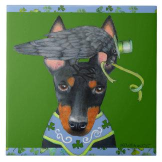 Manchester Terrier Ceramic Tile