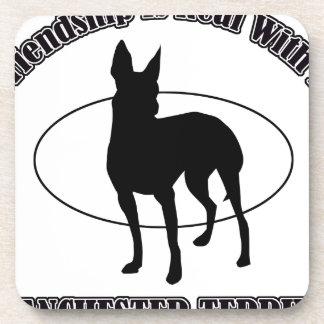 MANCHESTER TERRIER DOG designs Beverage Coaster