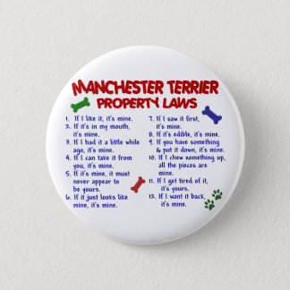 MANCHESTER TERRIER Property Laws 2 6 Cm Round Badge