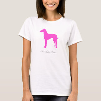 Manchester Terrier T-shirt (pink natural version)