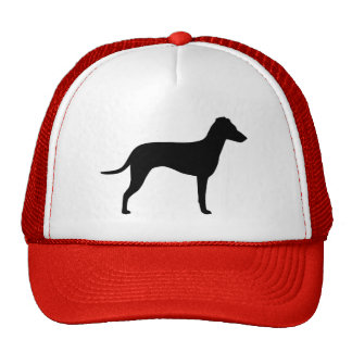 Manchester Terrier with Natural Ears Silhouette Cap