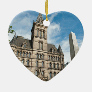 Manchester Town Hall Ceramic Heart Decoration