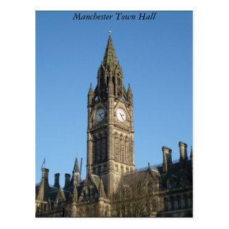 Manchester Town Hall Postcard