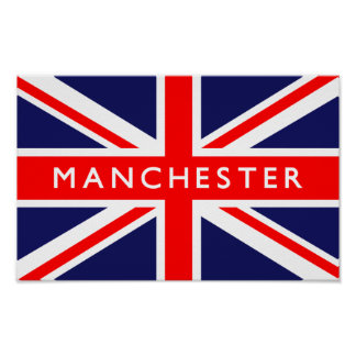 Manchester UK Flag Poster