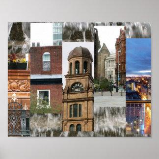 Manchester views poster