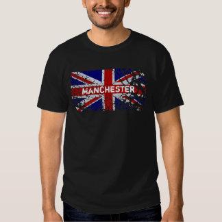 Manchester Vintage Peeling Paint Union Jack Flag Tshirt