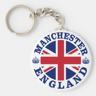 Manchester Vintage UK Design Basic Round Button Key Ring