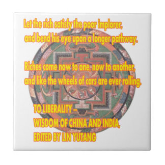 Manda Words To Live By LIBERALITY2 jGibney The MUS Small Square Tile