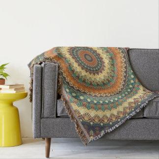Mandala 001 throw blanket