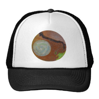 Mandala 1 Round Abstract Painting Cap