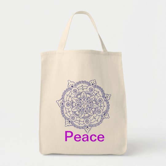 Mandala 4, Peace Tote Bag