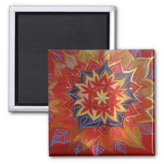 Mandala 5.1 Cm Square Magnet